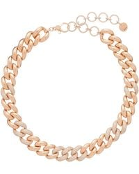 SHAY Diamond & 18kt Rose-gold Curb-chain Choker - Multicolor
