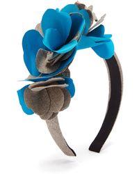 Benoit Missolin Albertine Linen Blend Headband - Blue