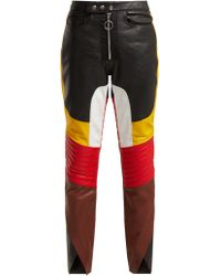 Marques'Almeida - Color-block Leather Straight-leg Trousers - Lyst