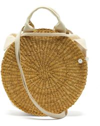 Muuñ Rosa Straw Basket Bag - Multicolour