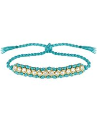 Theodora Warre Topaz, Gold-plated And Cotton Bracelet