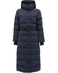 Burberry Eppingham Belted Down-filled Puffer Coat - Blue