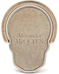 Alexander McQueen スカル メタルフォンホルダーリング - メタリック