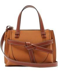 Loewe Mini Gate Leather Tote - Brown