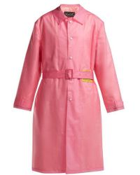 Martine Rose - Utopia-patch Frosted Raincoat - Lyst