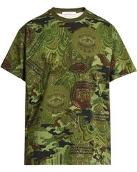 Givenchy Columbian-fit Camouflage Dollar-print T-shirt - Green