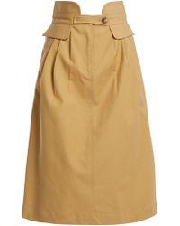 Sea - Kamille High-waisted Cotton-blend Skirt - Lyst