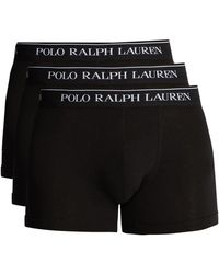 Polo Ralph Lauren - Pack Of Three Cotton Blend Boxer Briefs - Lyst