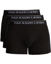 Polo Ralph Lauren - Set Of Three Cotton Blend Boxer Briefs - Lyst