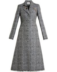 Erdem - Dominique Crystal-embellished Checked Coat - Lyst