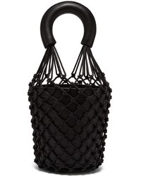 STAUD - Moreau Macrame And Leather Bucket Bag - Lyst