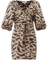 Mara Hoffman - Coletta Abstract-print Cotton-voile Wrap Dress - Lyst