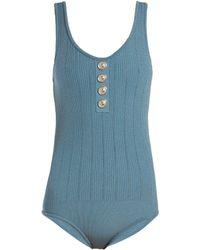 Balmain - Knit Bodysuit - Lyst