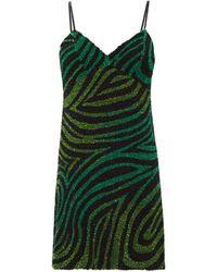 Ashish Robe courte zébrée à sequins - Vert