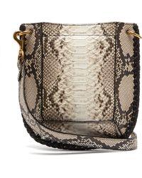 d1ded480049 Isabel Marant - Nasko Python Effect Leather Cross Body Bag - Lyst