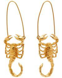 Givenchy Scorpio Zodiac Hoop Earrings - Multicolor