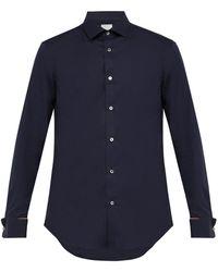 Paul Smith Artist-stripe Double-cuff Cotton Shirt - Blue