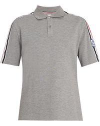 Moncler Gamme Bleu Contrast-collar Cotton-piqué Polo Shirt - Gray