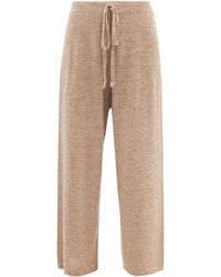 Lauren Manoogian Facil Alpaca-blend Wide-leg Pants - Brown