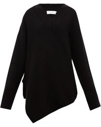 Marques'Almeida Asymmetric Merino-wool Jumper - Black