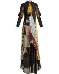Etro - Almira Patchwork Silk-blend Gown - Lyst