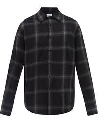 Raey チェック ウールシャツ - ブラック