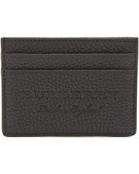 Burberry - Black Leather Cardholder - Lyst