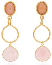 Timeless Pearly Yellow Quartz & 18kt Rose Gold Shell Charm