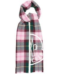 Moncler ロゴプリント チェック ウールブレンドスカーフ - マルチカラー