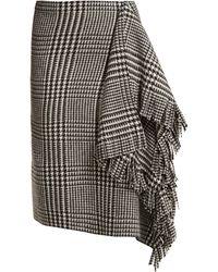 Balenciaga - Houndstooth Wool Skirt - Lyst
