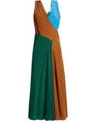 Diane von Furstenberg - Polka-dot Print Silk-crepe Midi Dress - Lyst