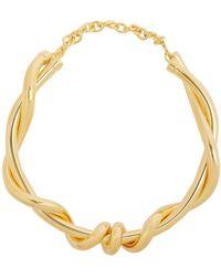 Oscar de la Renta - Twisted Rope Necklace - Lyst