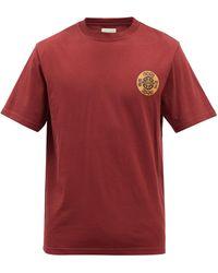 Nicholas Daley T-shirt en jersey de coton à imprimé - Rouge