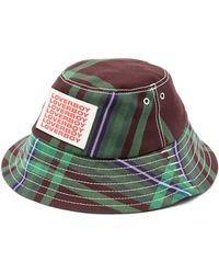 Charles Jeffrey LOVERBOY Logo-print Checked Bucket Hat - Multicolour