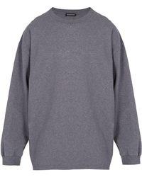 Balenciaga Sweat-shirt en coton à imprimé diagramme Self - Gris