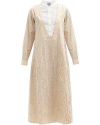 Thierry Colson Victoria Striped Cotton-poplin Shirt Dress - Multicolour