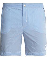 Robinson Les Bains - Oxford Long Striped Swim Shorts - Lyst