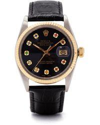 Lizzie Mandler Montre en or et saphirs Vintage Rolex Datejust - Multicolore