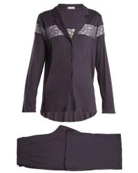 Hanro - Lace-insert Jersey Pyjama Set - Lyst