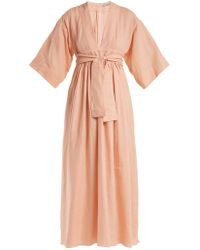 Three Graces London - Ferrers Tie-waist Linen Dress - Lyst