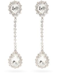 Alessandra Rich - Boucles d'oreilles clippées à pendants en cristaux - Lyst