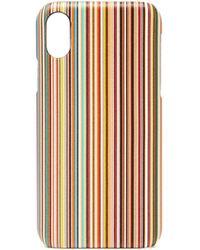 Paul Smith シグネチャーストライプ Iphone X ケース - マルチカラー