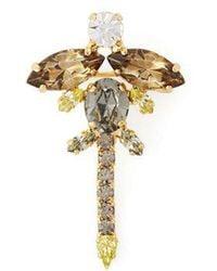 Erdem - Dragonfly Crystal-embellished Brooch - Lyst