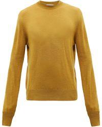 Studio Nicholson Sorello Merino-wool Jumper - Yellow
