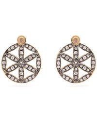 Noor Fares - Diamond, Moonstone & Yellow Gold Earrings - Lyst