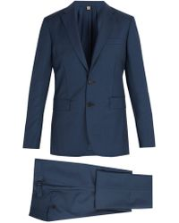 Burberry - Soho Wool And Mohair Blend Suit - Lyst
