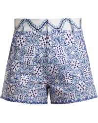 Le Sirenuse - Kantha Embroidered Shorts - Lyst