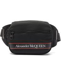 Alexander McQueen - ロゴプリント キャンバスベルトバッグ - Lyst