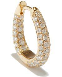 Jacquie Aiche ダイヤモンド 14kゴールドシングルフープピアス - メタリック