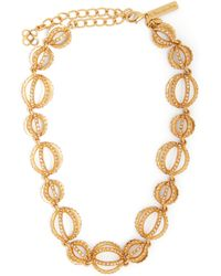 Oscar de la Renta - Crystal Embellished Globe Necklace - Lyst